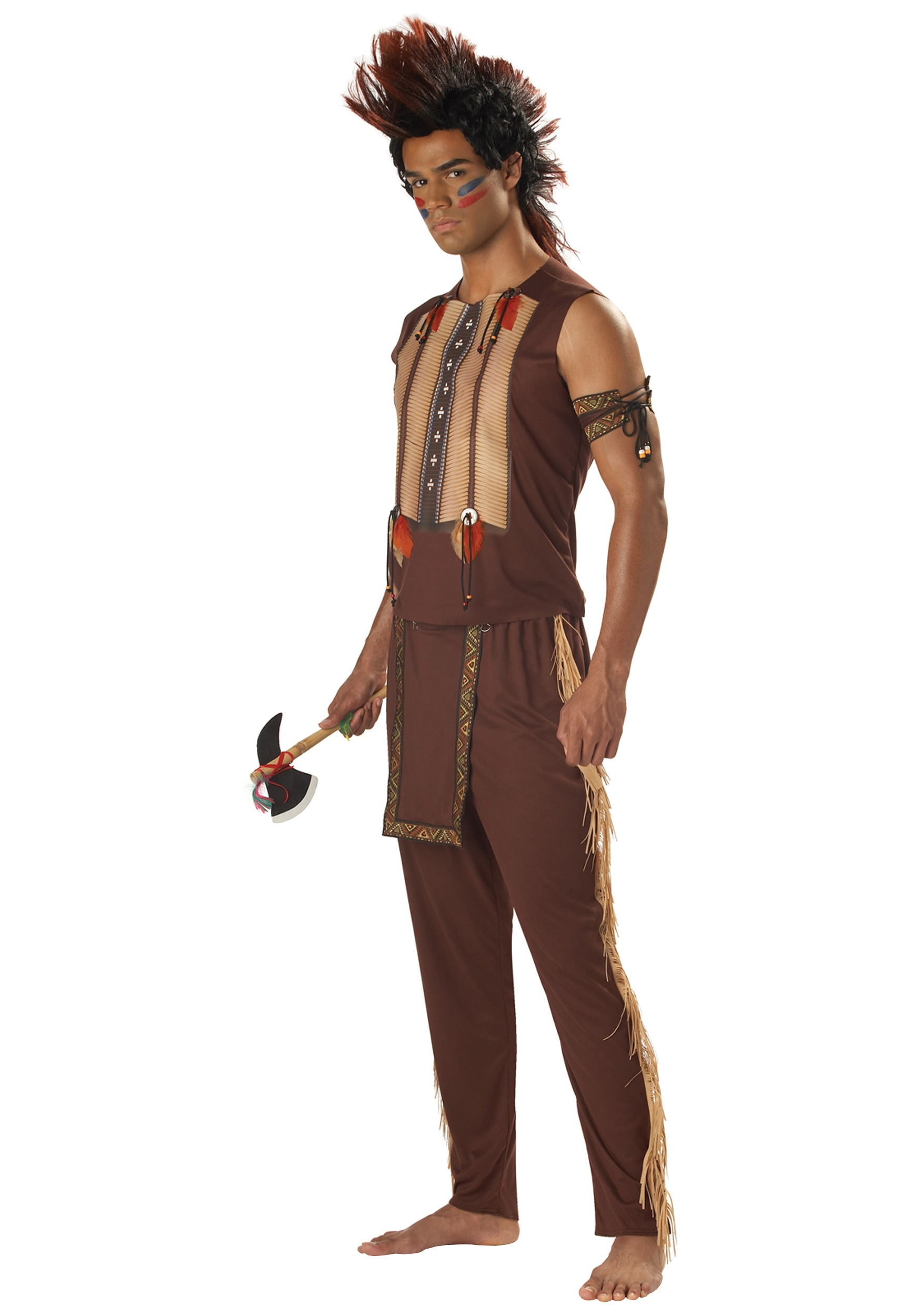 Brave Mens Indian Warrior  sc 1 st  Halloween Costume Ideas & Brave Mens Indian Warrior - Adult Mens Noble Native American Costumes