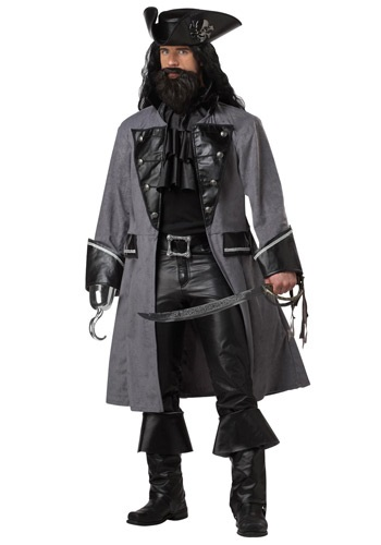 Mens Captain Blackbeard Pirate Costume