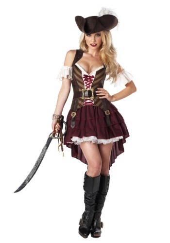 Plus Size Sexy Pirate Captain Costume