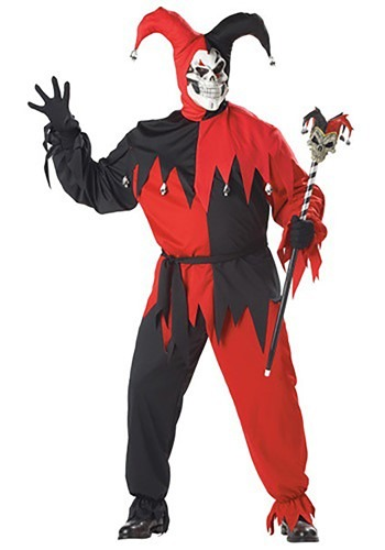 Adult Scary Jester Plus Costume