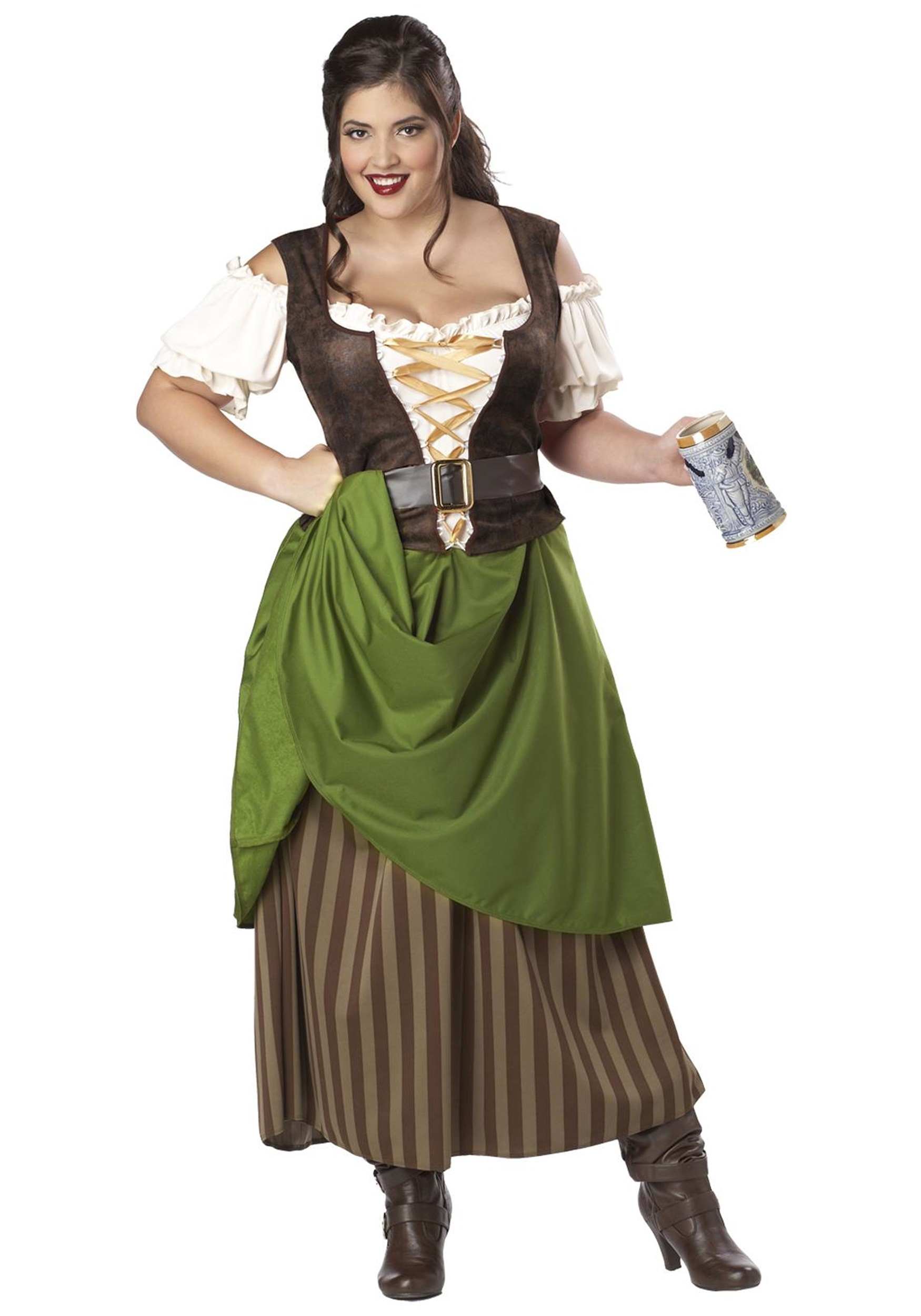Plus Size Medieval Tavern Maiden Costume  sc 1 st  Halloween Costume Ideas : medieval queen costume plus size  - Germanpascual.Com