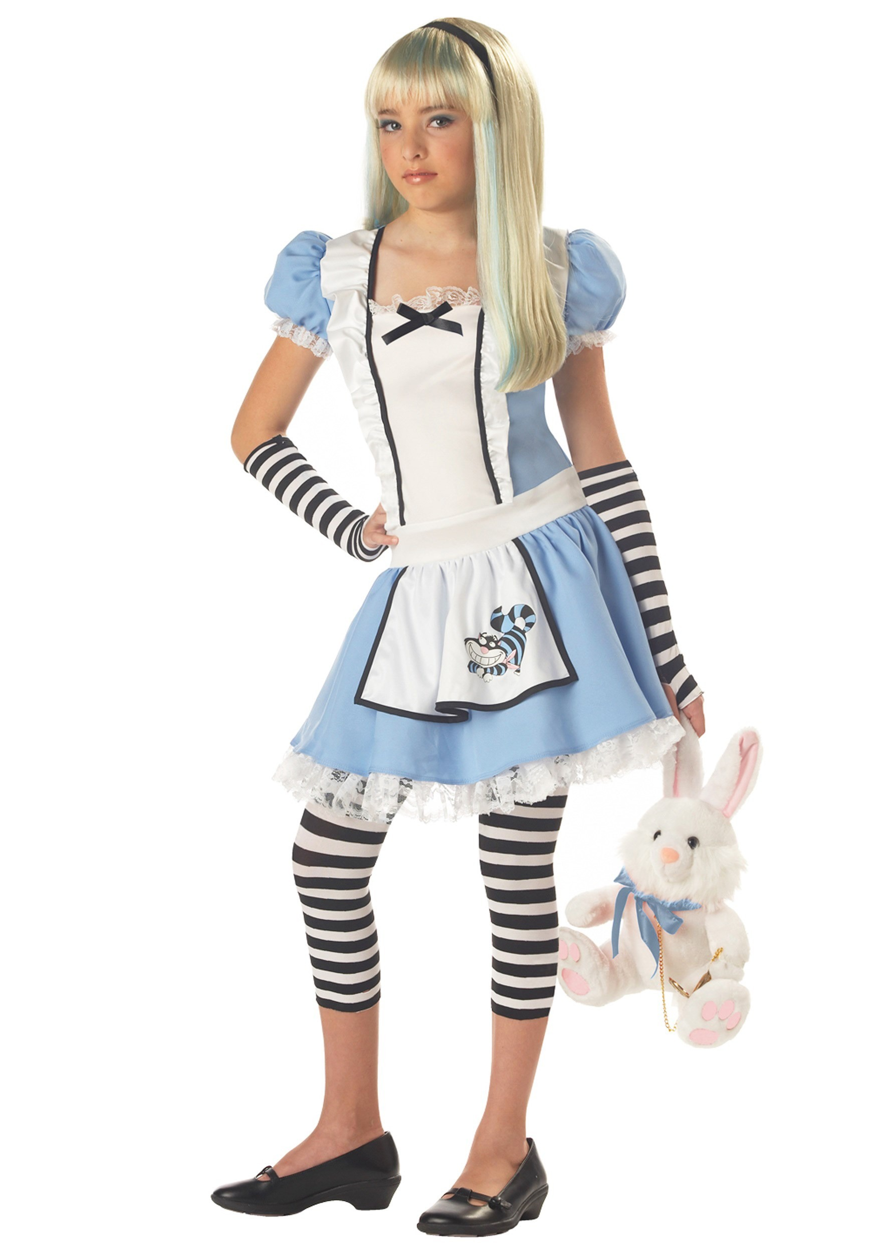 Tween Sassy Alice Costume  sc 1 st  Halloween Costume Ideas & Tween Sassy Alice Costume - Tween Alice in Wonderland Girls Costumes