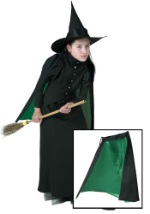 Girls Classic Witch Cape