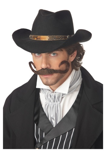 Curly Cowboy Mustache