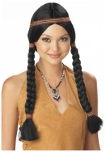 American Indian Pigtail Wig