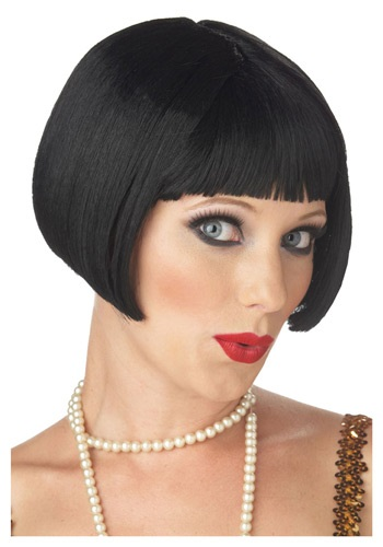 This short black bob can work wonders for a pin-up sailor girl,