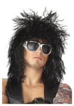 Black 80s Rocker Dude Wig