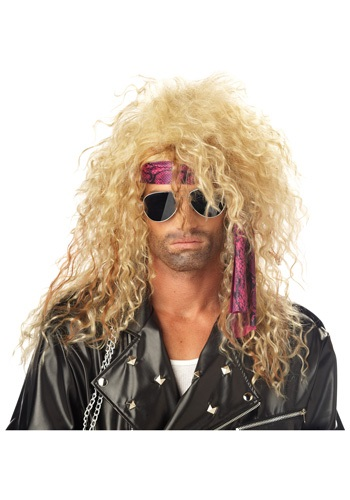 Blonde 80s Rock Star Wig