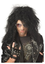 Black Hair Metal Wig