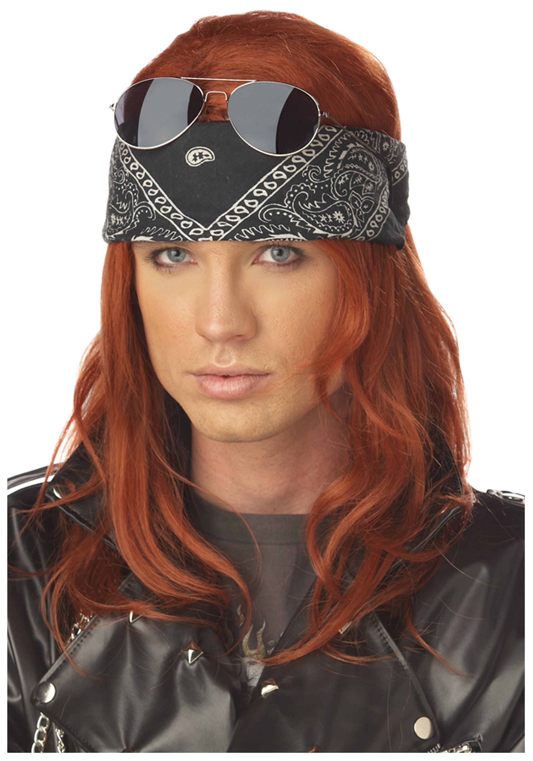 hollywood rock guy wig mens axl rose rock star wigs