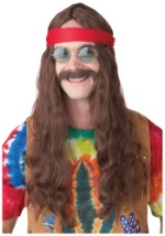 Happy Hippie Man Wig and Mustache