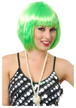 Short Lime Green Bob Wig