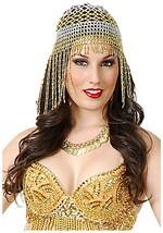 Sexy Golden Belly Dancer Headpiece