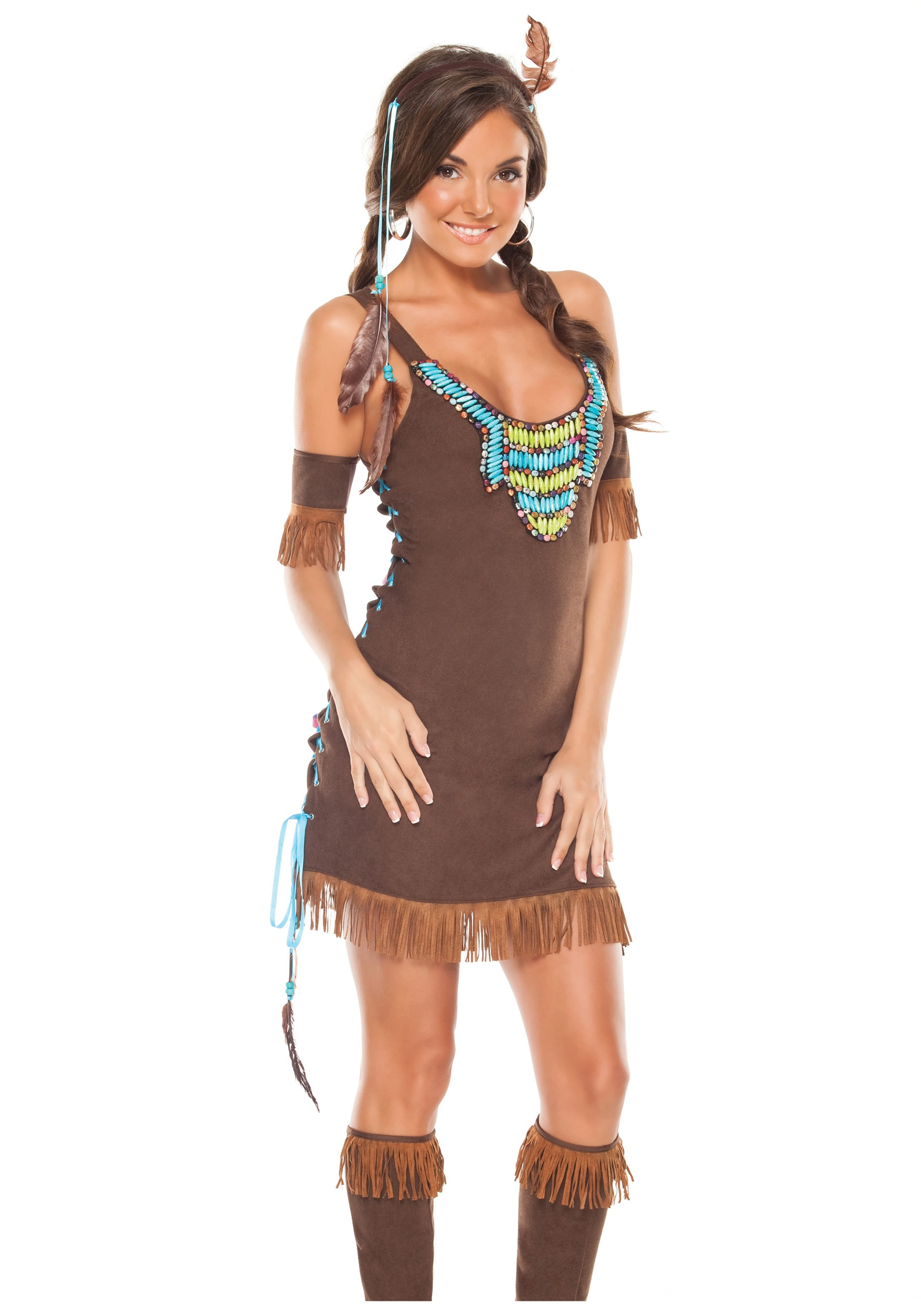 Sexy Temptress Indian Costume  sc 1 st  Halloween Costume Ideas & Sexy Temptress Indian Costume - Sexy Native American Costumes for Women
