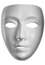 Blank Female Drama Mask