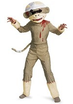 Child Zombie Sock Monkey Costume
