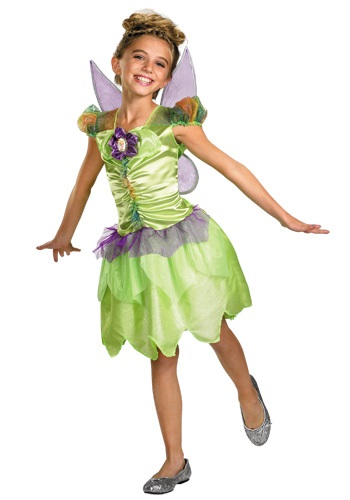 Girls Rainbow Pixie Tinkerbell Costume