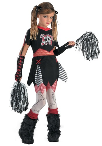 Teen Gothic Cheerleader Costume