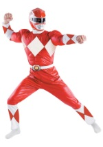 Adult Red Power Ranger Deluxe Costume