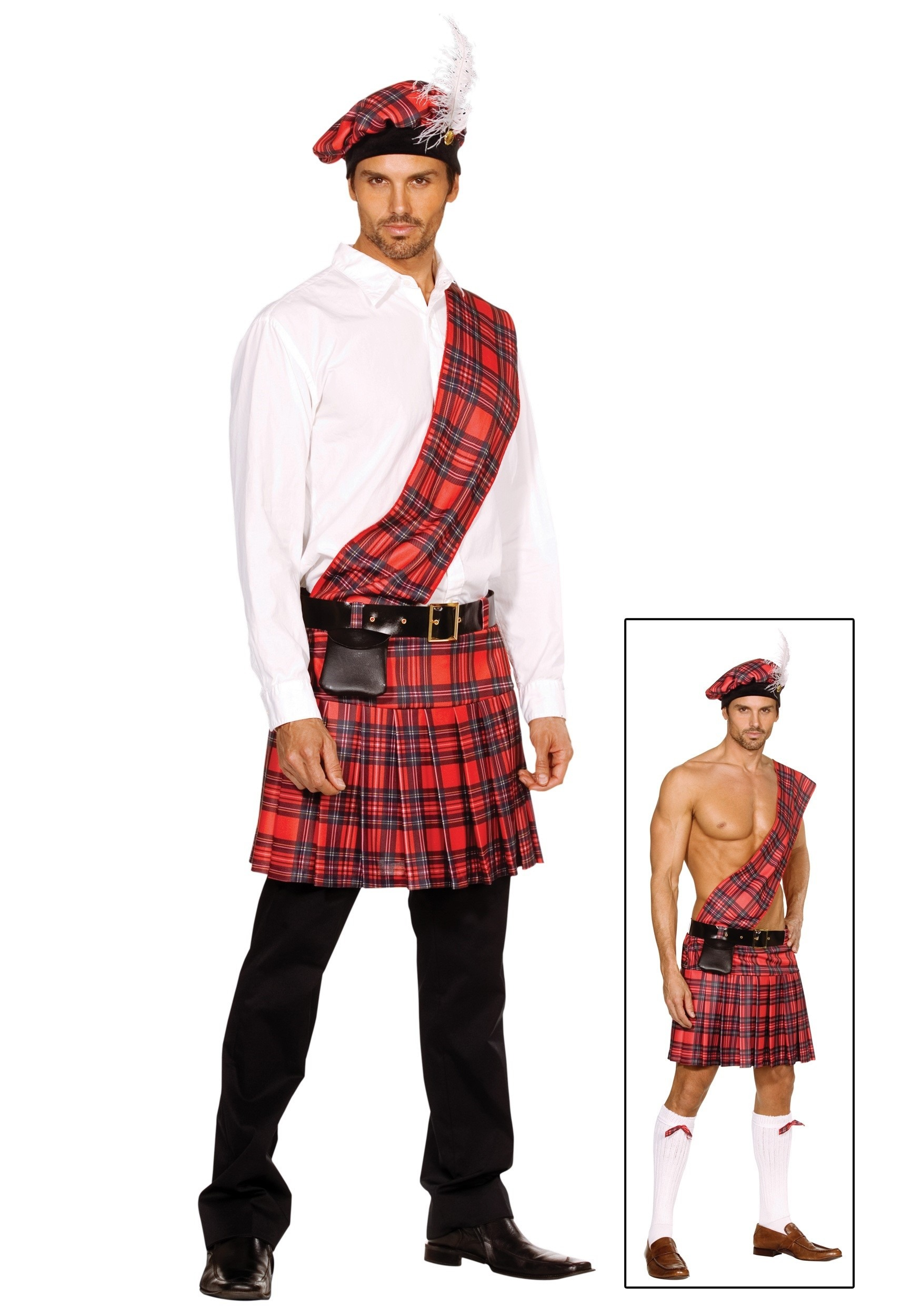 Scottish Kilt Costume - Adult Mens Scottish Halloween Costumes