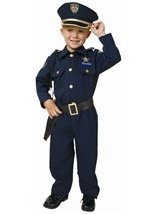 Deluxe Police Officer Costume For Kids