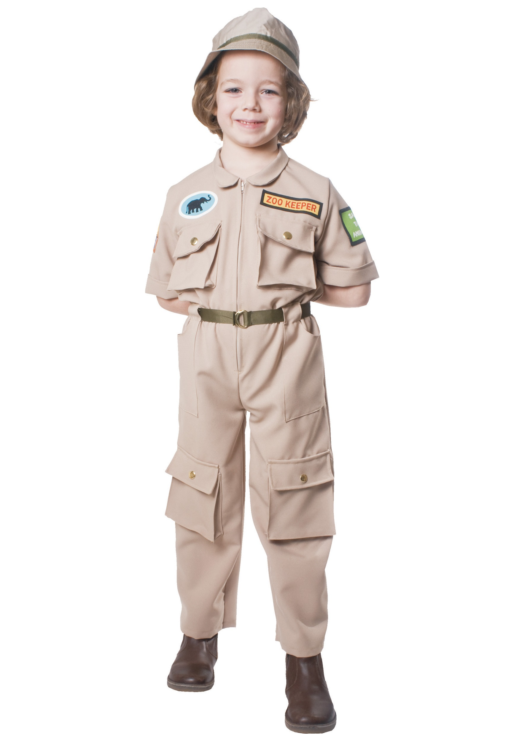 Home Zoo Keeper Child CostumeSafari Outfit For Kids