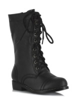 Kids Black Military Combat Boots