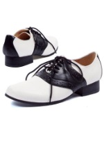Womens Retro 1950s Saddle Shoes