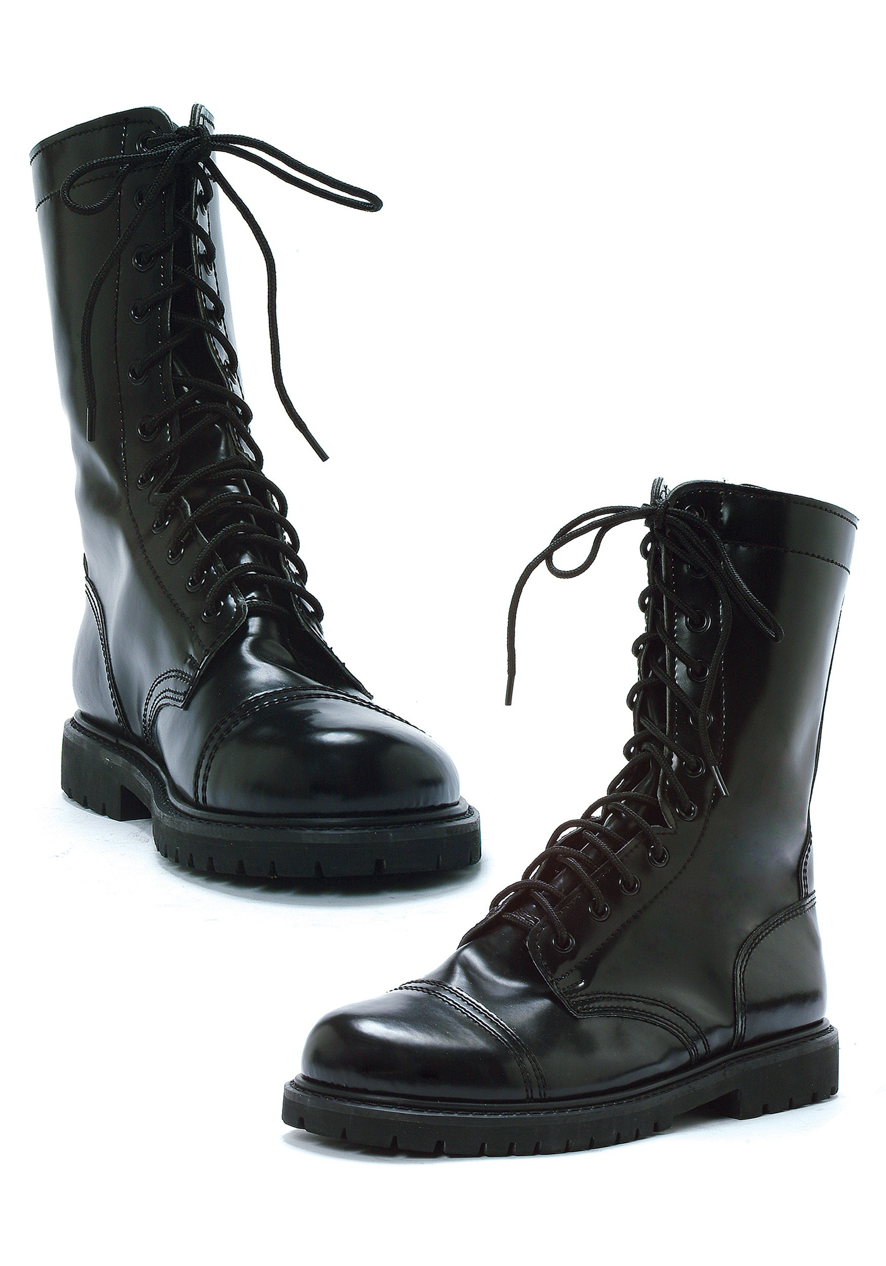 Adult Army Black Combat Boots - Mens Military Soldier Boots
