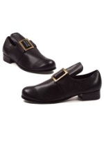 Adult Black Colonial Pilgrim Shoes