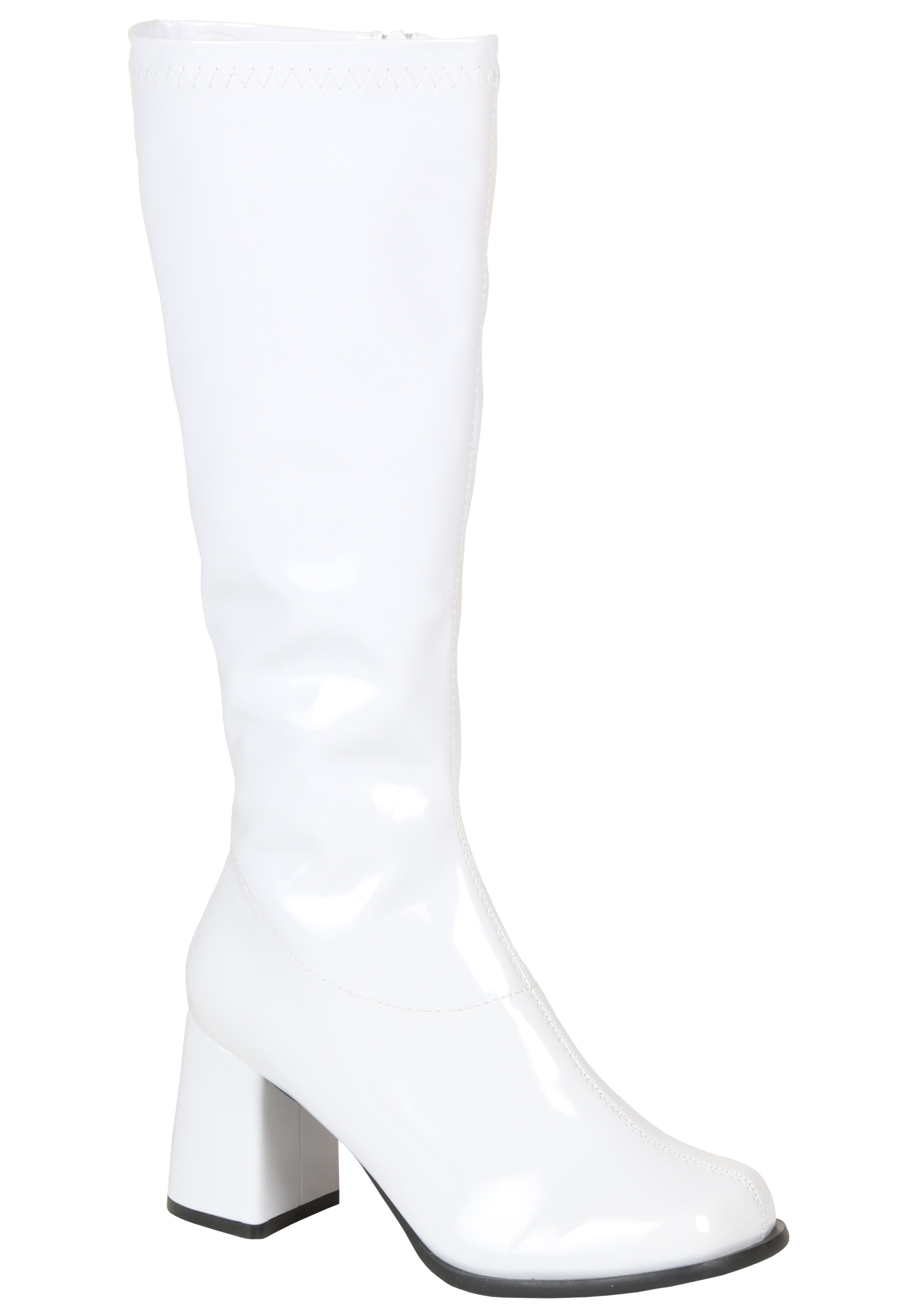 White Knee High Go Go Boots Women S Sexy Halloween Boots