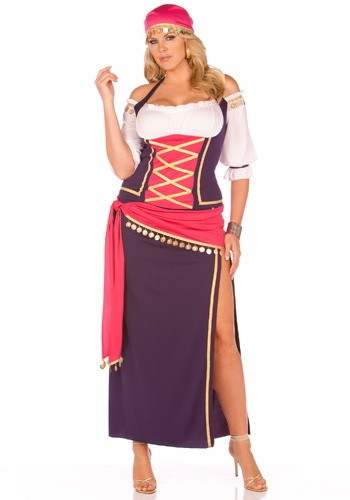 Plus Size Dancing Gypsy Maiden Costume