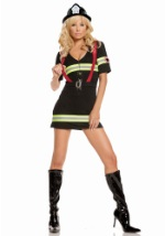 Womens Red Hot Firefighter Costume
