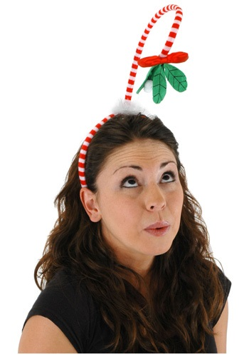 On a Spring Mistletoe Headband