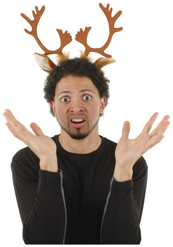 Holiday Reindeer Antlers Headband