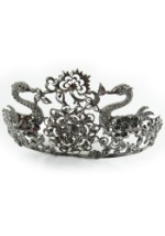 Black Jeweled Dance Tiara