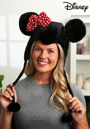 Minnie Mouse Ears Hoodie Hat