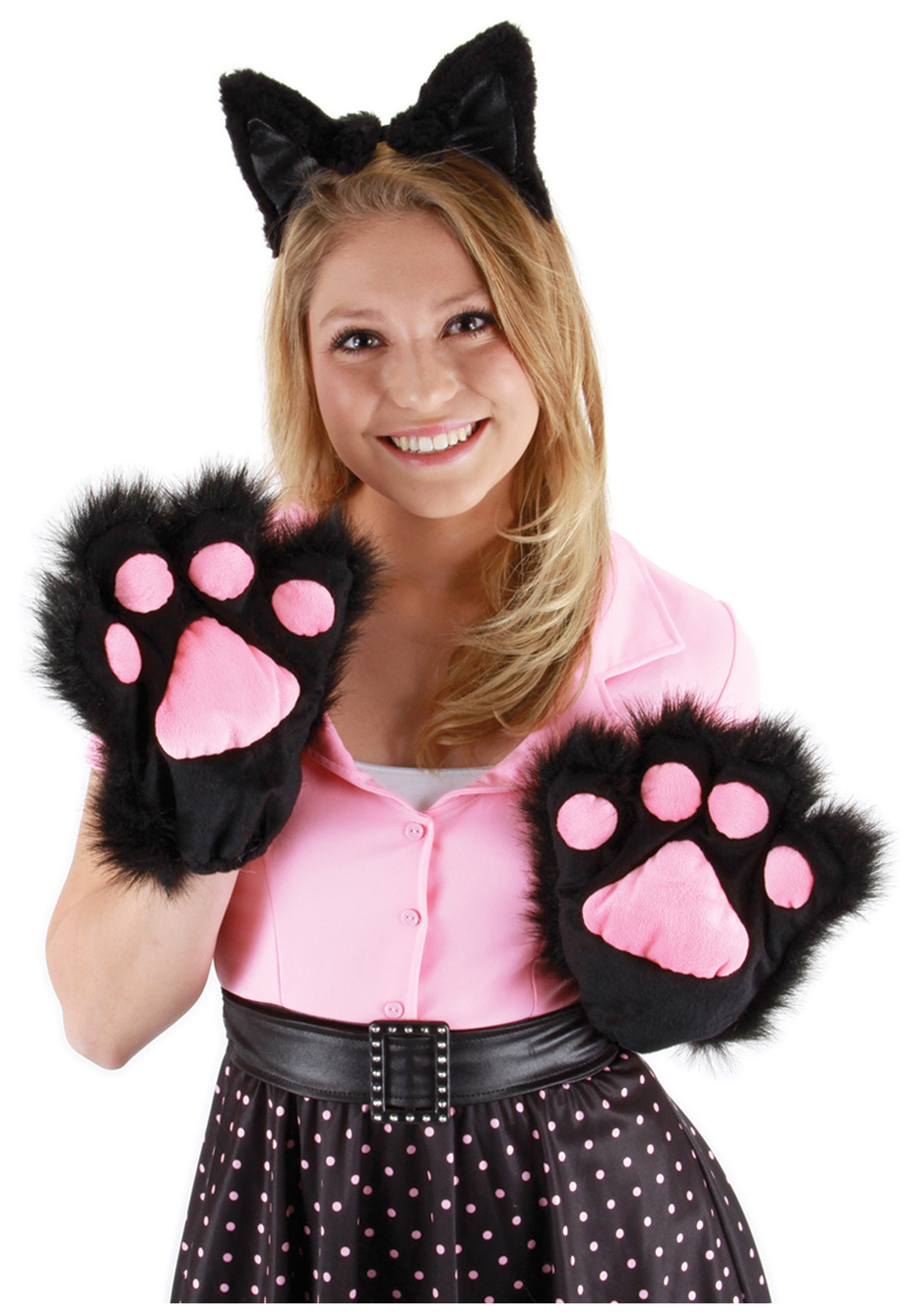Soft Black Kitty Paws Cat Costumes Womens Costumes  sc 1 st  Meningrey & Cat Paws Costume - Meningrey