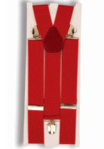 Red Costume Suspenders