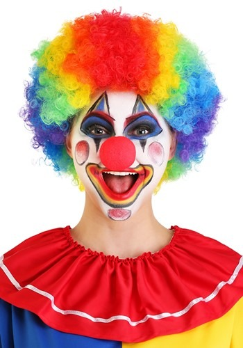 Jumbo Clown Rainbow Wig