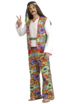 Plus Size Mens 60s Hippie Costume