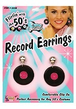 Clip-On Record Earrings