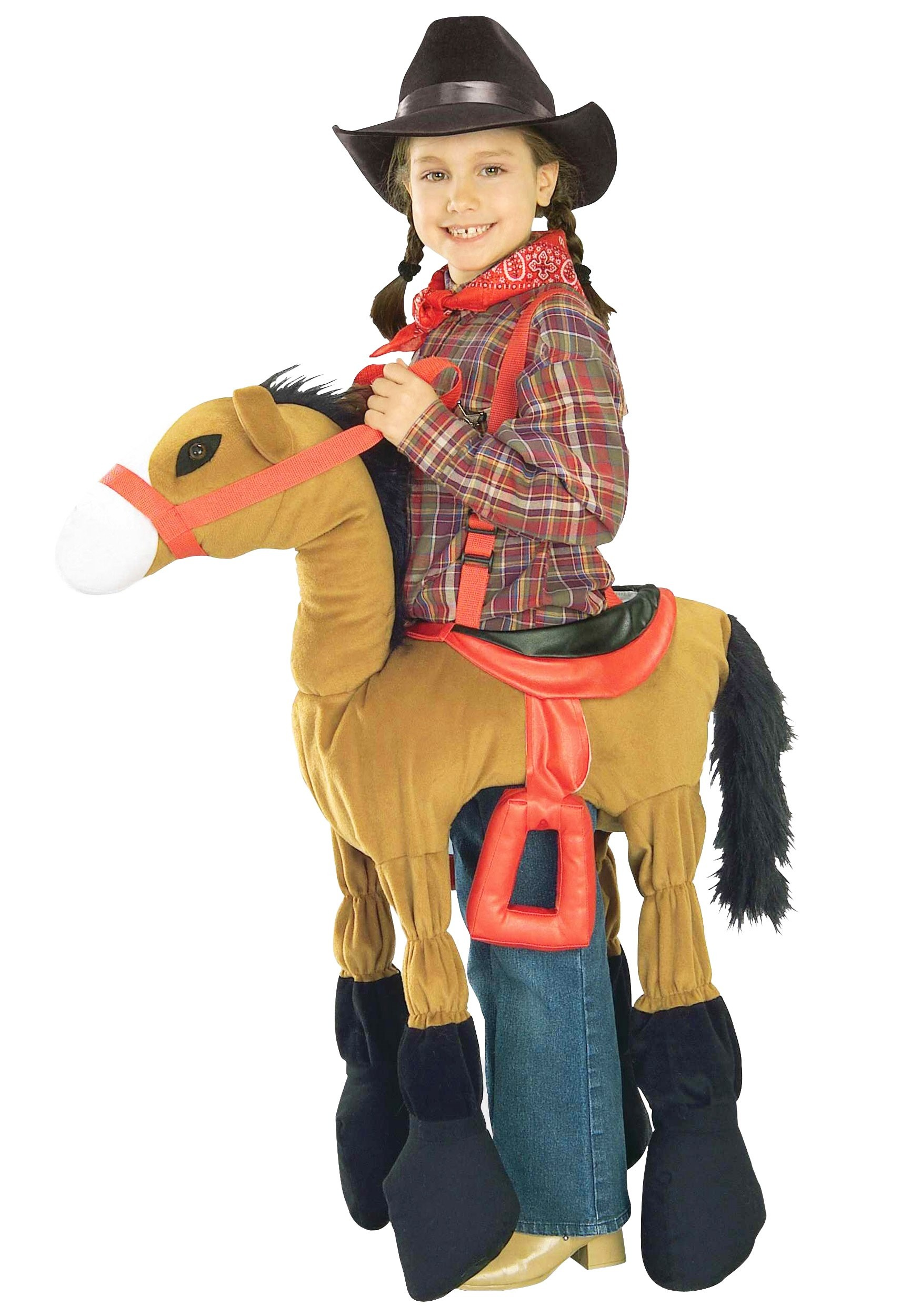 Child brown horse costume kids cowboy costumes for Children s halloween costume ideas