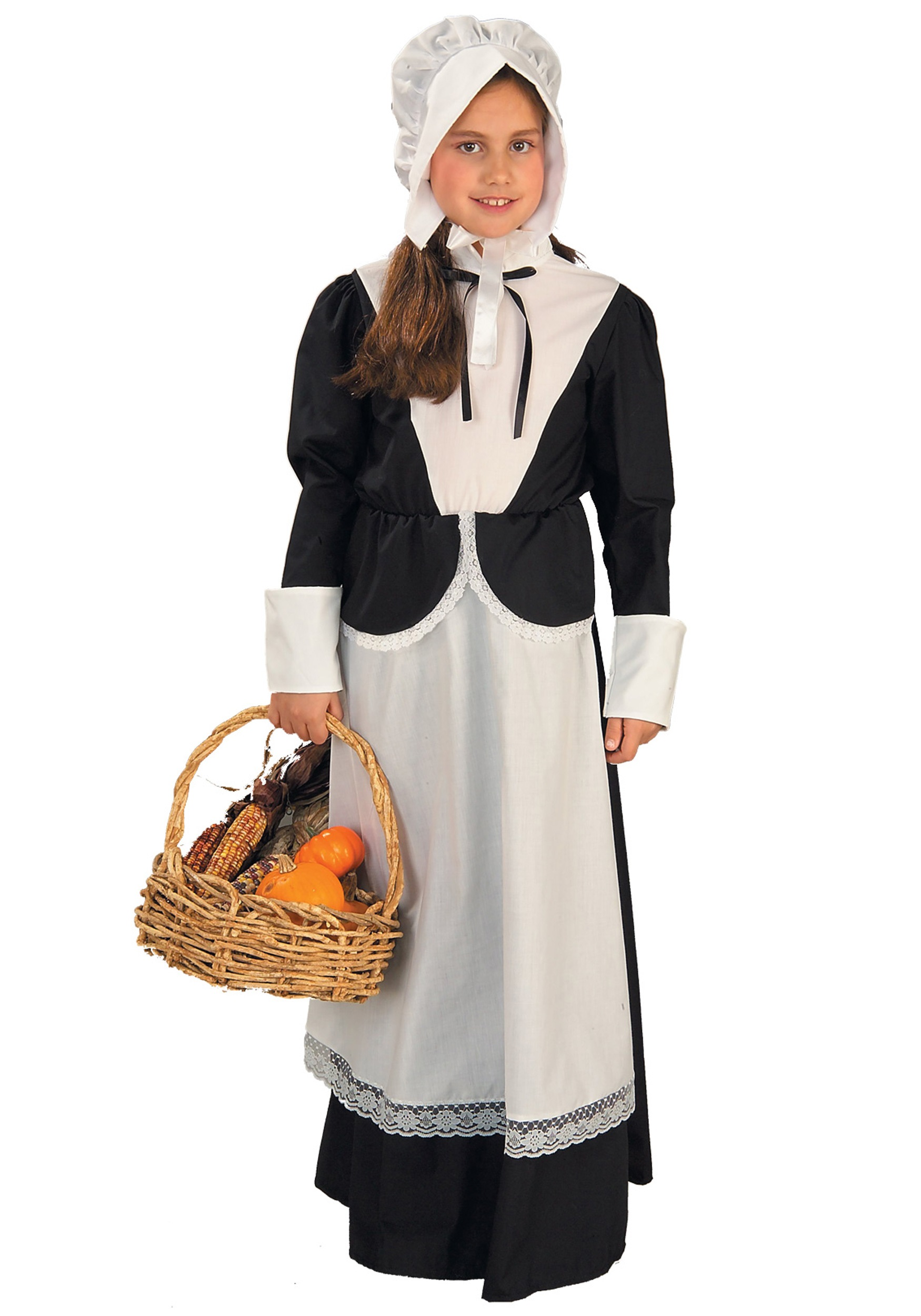 Girls Child Pilgrim Costume  sc 1 st  Halloween Costume Ideas & Colonial Costumes - Colonial Costume for Kids Adults