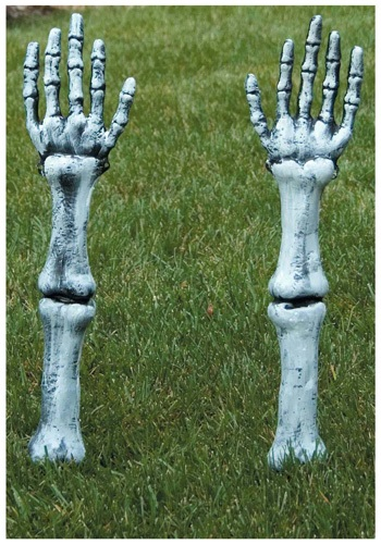 Skeletal Arm Lawn Stakes