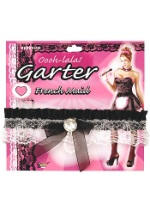 Black French Maid Garter