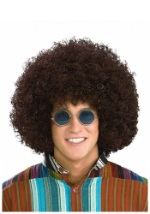 Brown Hippie Afro Wig