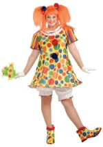 Womens Giggles Clown Plus Costume