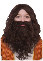 Child Biblical Beard and Wig Set