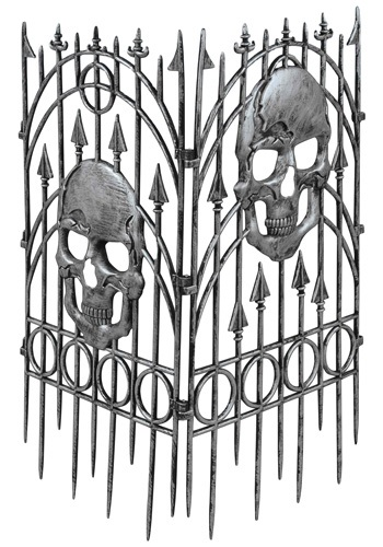 Cemetery Silver Skull Fence